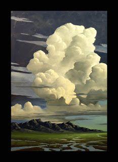 Landscape Concept, Abstract Landscape, Landscape Paintings, Sky Painting, Artist Painting, Western Landscape, Cloud Art, Sky Art, Environment Concept Art