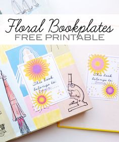 Such a cute bookplate printable...for your home library!