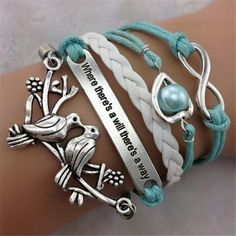 Item+Type:Package  Gender:+Female/Male  Necklace+Type:+Bracelet  Metal+Type:+Alloy,Wax+String  Colors:+Blue+White  Style:+Fashion  Shape/Pattern:+Love+birds  Length:+18cm  Weight:+14g  Package+Contents:+1+x+Bracelet  Manual+measurement,+there+exist+a+few+errors
