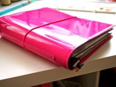 My Domino in Patent Hot Pink Filofax! Work Planner, Planner Ideas, Leather Notebook, Life Plan, Planner Organization, Hot Pink, Stationery, Journalling, Project Life