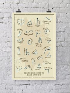 Harry Potter Zauberstab Bewegungen chart in von WellSaidCreations - embroider it?
