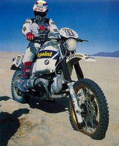 Hubert Auriol, BMW 980, Dakar Rally, 1983.