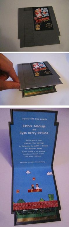 Gamer Wedding Card, Genius!!!! I could so do this for a valentines day card or something!
