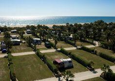 Wohnmobilstellplatz Camping  Las Dunas, Costa Brava, Spanien