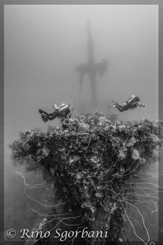 Encrusted shipwreck by RINO SGORBANI