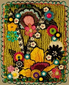 Lollipop Garden - beaded art quilt