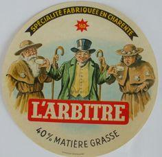 étiquette   fromage   L  ARBITRE ( Charente )