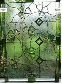 Shamrock stained glass