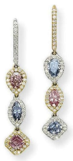 Colored Diamond Earrings ~ Christie's