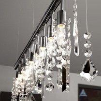Shooting Stars Chrome Ceiling Lamp