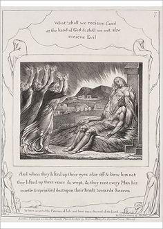 Print of The Book of Job: Pl. And when they had lifted up their eyes, Creator: William Blake William Blake, Book Of Job, Job 1, Heritage Image, Great Artists, Printmaking, Comforters, Drawings, Artwork