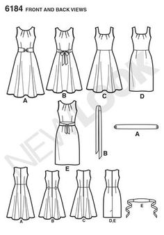 Versatile sewing pattern which does fit and flare and fitted shift dresses.