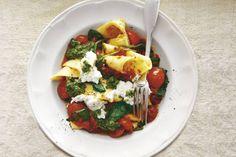Kijk wat een lekker recept ik heb gevonden op Allerhande! Lasagnette met tomaat, spinazie & ricotta