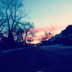 Gorgeous sunrise on my way to work!