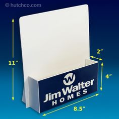 Brochure Rack (Clear) - Wall Mount Literature Display with 32 ...