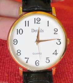Men's Details Quartz Watch with Fresh Battery #Details #Fashion