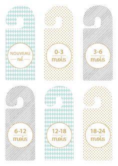 DIY: separator for baby wardrobe. Baby Co, Baby Kids, Quilts Vintage, Bebe Shower, Closet Dividers, Diy Bebe, Baby Koala, Baby Bedroom, First Baby