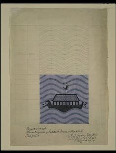 Noah's Ark | Charles Francis Annesley Voysey | V&A Search the Collections Textile Design 1929
