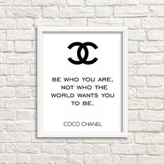 chanel wall art coco chanel quotes teen girl wall by GrafikShop                                                                                                                                                                                 More