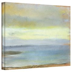 Edgar Degas 'Marine Sunset' gallery-wrapped canvas is a high-quality canvas print in Degas' trademark Impressionist style, depicting a quiet moment as the sun sets over the water. A breathtaking and wonderful addition to your home or office.