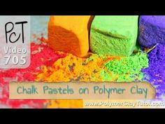 Chalk Pastels on Polymer Clay (Solid and Liquid Clay) - YouTube