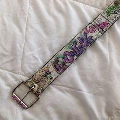 Unique colorful holographic belt. Fits a 29 to 33 inch waist. Accessories Belts
