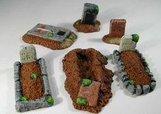 miniature graveyard | FRP GAMES - PRODUCT - 28mm Fantasy Terrain: Graveyard Set