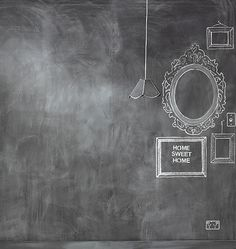 Think of all the creative freedom with a chalkboard wall. My note: This would be perfect in an office setting, wouldn't it?