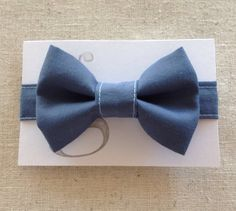 Handmade Velcro Boys Bow Tie in Blue // by by GraceCoHandmade, $15.00