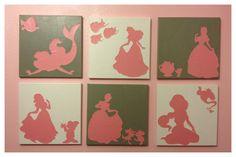 12x12 princess canvas made with Disney cricut cartridge
