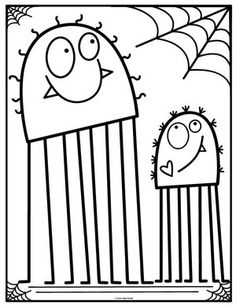 Coloring Club Library — From the Pond Preschool Coloring Pages, Colouring Pages, Coloring Pages For Kids, Coloring Sheets, Coloring Books, Theme Halloween, Fall Halloween, Halloween Crafts, Alphabet Letter Crafts