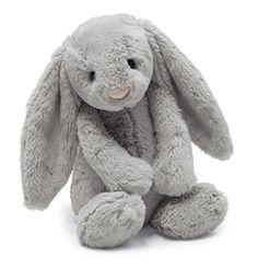 Jellycat Bashful Grey Bunny, Medium, 12 inches