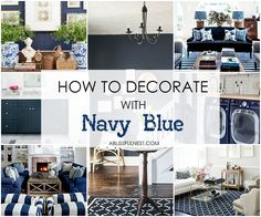 Love the color navy? So do we! Learn how to decorate with navy blue and get our BEST navy paint colors by A Blissful Nest. #navyblue #designtips #decoratewithnavy #navydecor #navylivingroom #blueappliances http://ablissfulnest.com