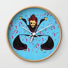 David tribute Wall Clock#funny #artwork #drawing #art #thesbirù #comic #cartoon #puppet #society6 #society6art #artprint #mug #tshirt #duvet #pillow #shopart #children #joy #child #fun, #humor #happiness #childhood #smile #kid #illustration