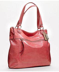COACH POPPY LEATHER GLAM TOTE - Coach Handbags - Handbags & Accessories - Macy's
