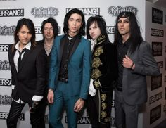 Black Veil Brides at kerrang! Awards>> Andy is the only one not wearing dark colors..... no further comment