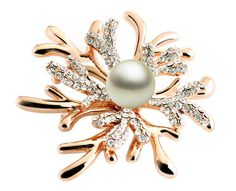 Fashionable Korean Style Snowflake Shape Designed Brooch