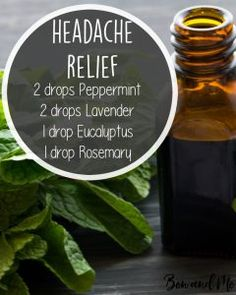 Headache Relief Essential Oil Blend for Your Diffuser