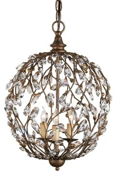 Crystal Bud Sphere Chandelier - Currey & Company