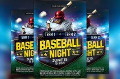 Baseball Match Flyer Template by Flyermind on @creativemarket