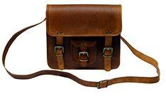 "TLC 11"" Inch Leather Messenger Bag Laptop Bag Crossbody B..."