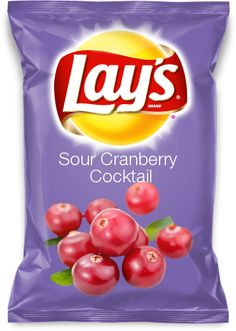 Sour Cranberry Cocktail    Sour cranberry cocktail would be a very lively flavor for a lays chip.