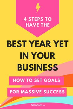 4 steps for goal planning to have your best year yet in business #goalsetting #productivitytips #todolist #savetime #businessplanning