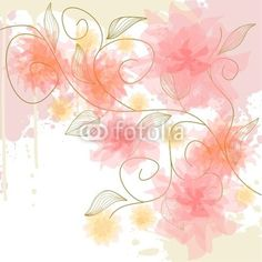 Delicate flower background