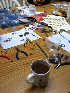 Steampunk jewellery with tea and biscuits - a perfect morning - 23rd March 2013 - www.inc-inc.co.uk