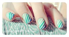 Stripe Ombre Nails