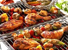 National Barbecue Month BBQ Fun Fact: Americans barbecue the most on three specific holidays: the Fourth of July, Labor Day and Memorial Day. During these holidays the weather is very nice for barbecuing and families tend to come together. Bbq Chicken, Tandoori Chicken, Chicken Wings, Roasted Chicken, Bbq Marinade, Barbeque Sauce, Clean Eating, Healthy Eating, Summer Barbecue