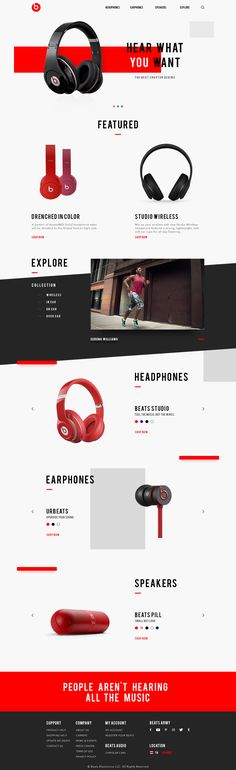 Beats Website Redesign Concept By. Sarunyoo R.