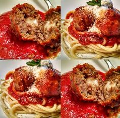 Weight+Watchers+Mozzarella-Stuffed+Meatballs+with+Penne+and+Kale