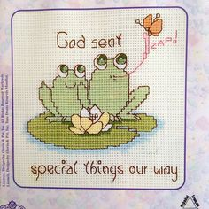 "God Sent Special Things our Way Counted Cross Stitch Kit –  Precious Moments  Fur-Ever Friends No. 131-0087 – 5"" x 7"" by DocksideDesignsEtc on Etsy"